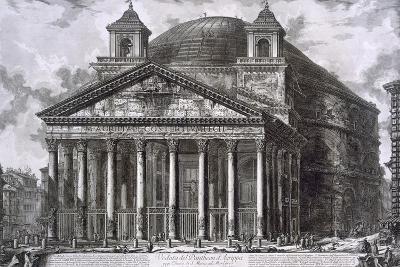 Pantheon of Agrippa, Rome-Giovanni Battista Piranesi-Giclee Print