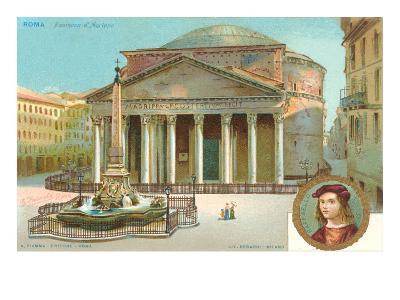 Pantheon, Rome, Italy--Art Print