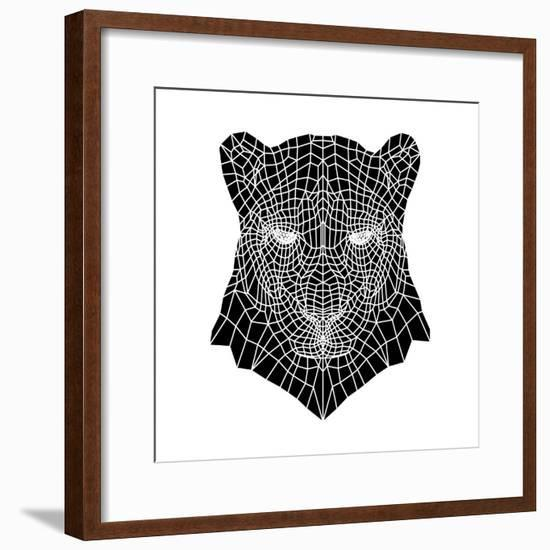 Panther Head Mesh-Lisa Kroll-Framed Premium Giclee Print