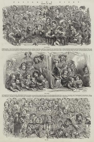 Pantomime Night-Hablot Knight Browne-Giclee Print