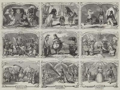Pantomimes in London-Alfred Crowquill-Giclee Print