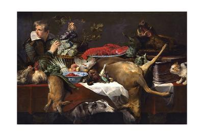 Pantry Scene with Servant-Frans Snyders-Giclee Print
