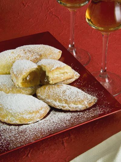 Panzerotti Alla Marmellata (Jam Panzerotti), Italian Carnival Cakes, Valle D'Aosta, Italy, Europe-Nico Tondini-Photographic Print