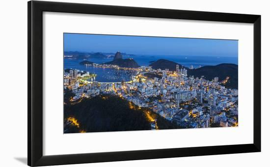 Pao Acucar or Sugar loaf mountain and the bay of Botafogo, Rio de Janeiro, Brazil, South America-Gavin Hellier-Framed Photographic Print