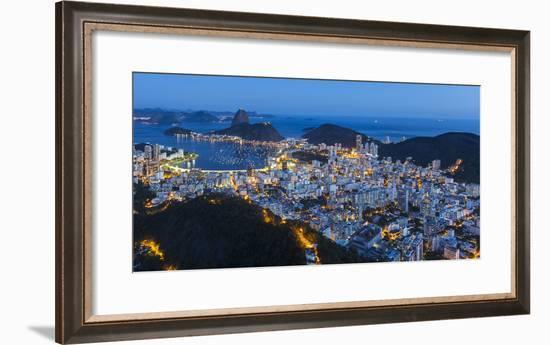 Pao Acucar or Sugar loaf mountain and the bay of Botafogo, Rio de Janeiro, Brazil, South America-Gavin Hellier-Framed Photographic Print