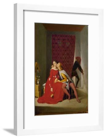 Paolo and Francesca, from Dante's Divina Commedia-Jean-Auguste-Dominique Ingres-Framed Giclee Print