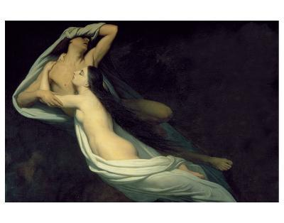 Paolo and Francesca-Ary Scheffer-Premium Giclee Print