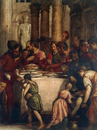 Banquet Scene, Detail from Dinner at Pharisee's House or Dinner at Simon's House