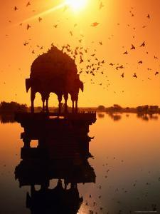 Jain Temple Silhouetted in Fateh Sagar Lake by Paolo Cordelli