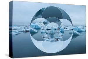 Geometric Landscape with Iceberg and Sea by Paolo De Gasperis