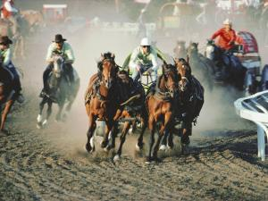 Chuck Wagon Race, Calgary Stampede, Alberta, Canada by Paolo Koch