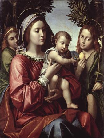 The Virgin and Child, St. John the Baptist and an Angel