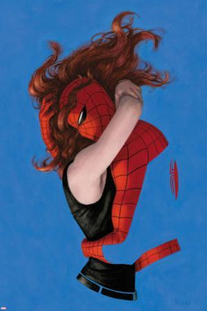 Amazing Spider-Man No.641 Cover: Spider-Man and Mary Jane Watson Hugging