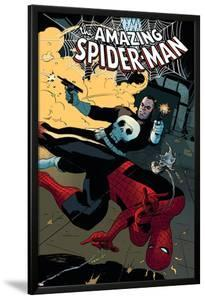 The Amazing Spider-Man No.577 Cover: Spider-Man and Punisher by Paolo Rivera