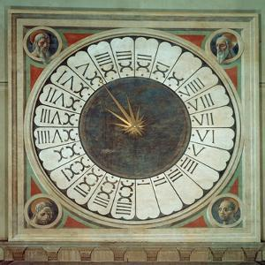 Canonical Clock with the Heads of Four Prophets, Completed 1443 by Paolo Uccello