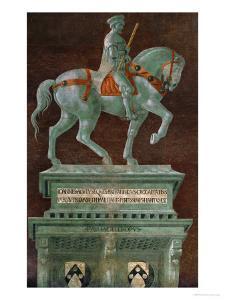 Condottiere John Hawkwood (1320-1394), Equestrian Portrait by Paolo Uccello