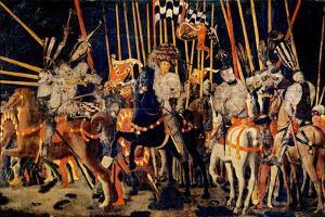 Micheletto da Cotignola Engages in Battle (Battle of San Romano) by Paolo Uccello