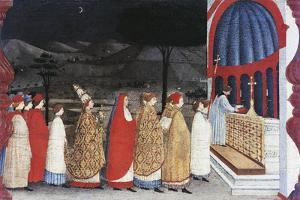 Predella of the Miracle of the Profaned Host by Paolo Uccello