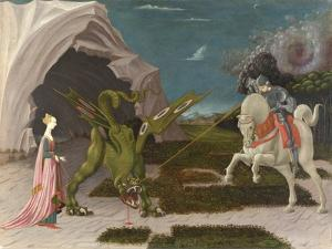 Saint George and the Dragon. About 1470 by Paolo Uccello