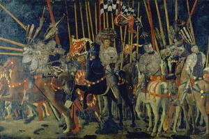 The Battle of San Romano, 1432 by Paolo Uccello