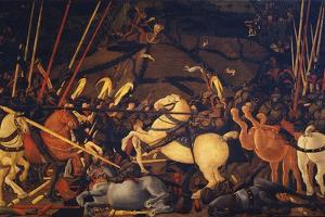 The Battle of San Romano, C. 1440 by Paolo Uccello