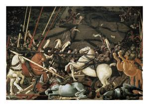 The Battle of San Romano in 1432 by Paolo Uccello