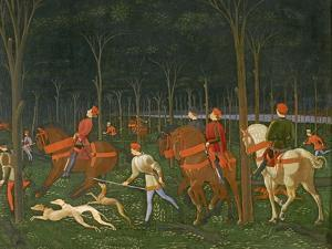 The Hunt in the Forest, C.1465-70 (Detail) by Paolo Uccello