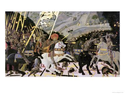 The Rout of San Romano, circa 1438-40 (Tempera on Poplar)