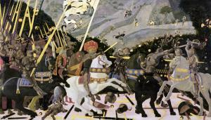 The Rout of San Romano, circa 1438-40 (Tempera on Poplar) by Paolo Uccello