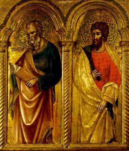 Apostles Saint James and Saint Bartholomew, Ca 1345 by Paolo Veneziano