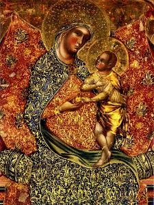 Madonna and Child Enthroned with Two Angels by Paolo Veneziano