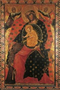 Madonna and Child with two Votaries by Paolo Veneziano