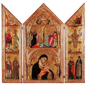 Movable Altarpiece (Triptych) by Paolo Veneziano