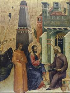 The Healing of Old Man, Detail of the Marciana Weekday Altarpiece by Paolo Veneziano