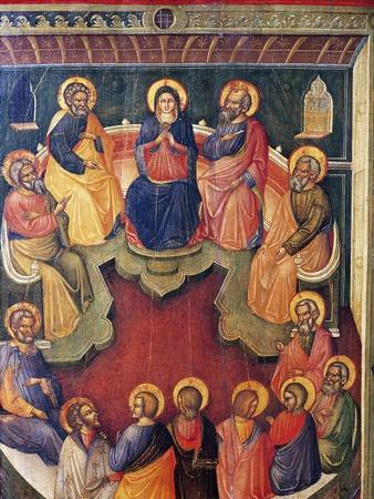 The Virgin Surrounded by Twelve Apostles or Pentecost