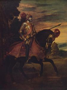 'Carlos V En La Batalla De Muhlberg', (Carlos V at the Battle of Muhlberg), 1548, (c1934) by Paolo Veronese