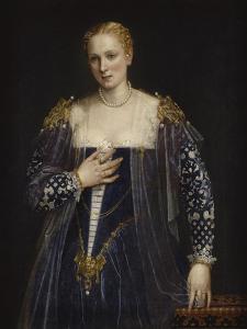 Portrait de femme dit La Belle Nani. Avec cadre. by Paolo Veronese