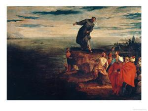 St. Anthony Preaching to the Fish, circa 1580 by Paolo Veronese