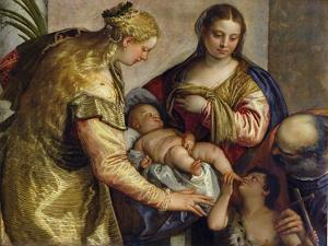 The Holy Family with St. Barbara, c.1550 by Paolo Veronese