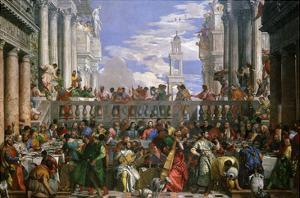 The Wedding at Cana, Painted 1562-63 by Paolo Veronese
