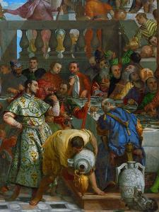 The Wedding at Cana, Servants Pouring the Water, Miraculously Changed into Wine by Paolo Veronese