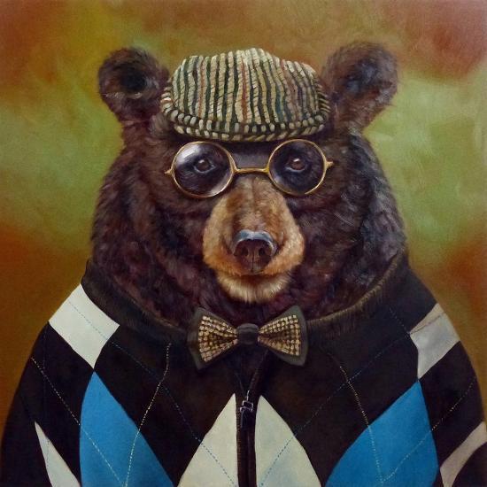Papa Bear-Lucia Heffernan-Art Print