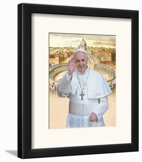 Papa Franciscus Framed Art Print by Maurilio Boldrini | Art.com