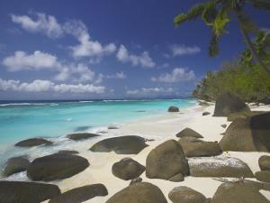 Rocks on Tropical Beach, Seychelles, Indian Ocean, Africa by Papadopoulos Sakis