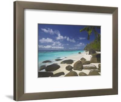 Rocks on Tropical Beach, Seychelles, Indian Ocean, Africa