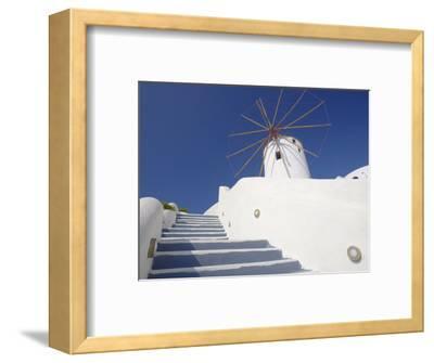 Windmill in Oia, Santorini, Cyclades, Greek Islands, Greece, Europe