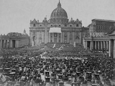 Papal Benediction at St. Peter's Basilica--Photographic Print