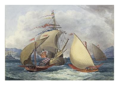 Papal Galleys and Ships of War, c.1850-Charles Hamilton Smith-Giclee Print