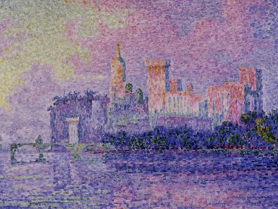 Papal Palace in Avignon, c.1900-Paul Signac-Giclee Print