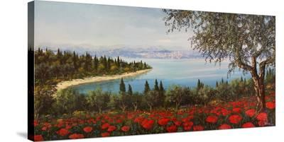 Papaveri sulla baia-Tebo Marzari-Stretched Canvas Print